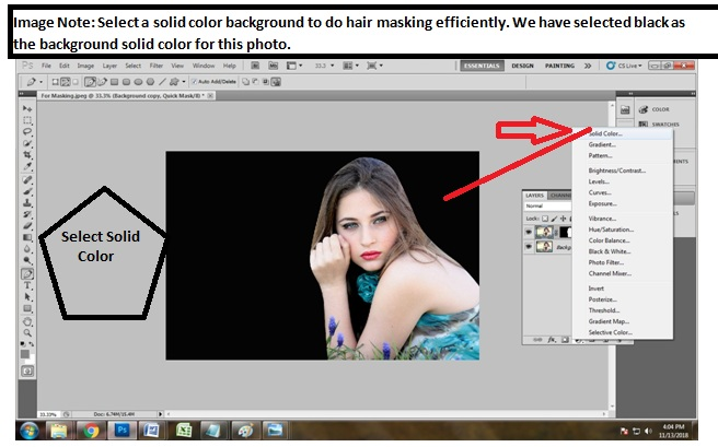 How to do hair masking in Photoshop cs5