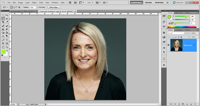 How to swap face in photoshop