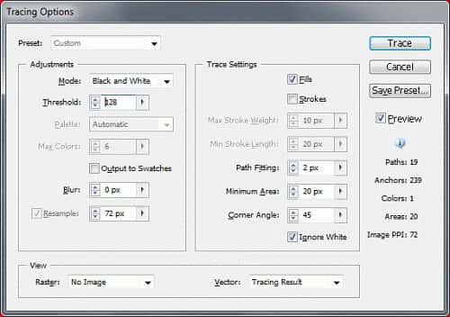 Set Tracing Options And Trace