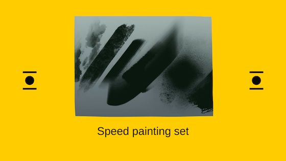 Speed painting brush set