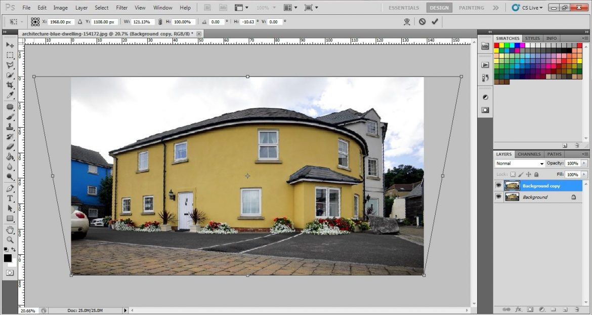 How can we do perspective Wrap in Photoshop