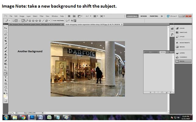 How to replace photo background in Photoshop CS5
