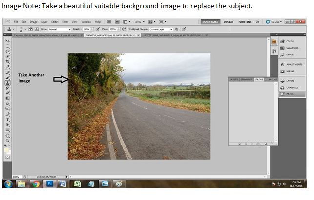 Change photo background using Photoshop