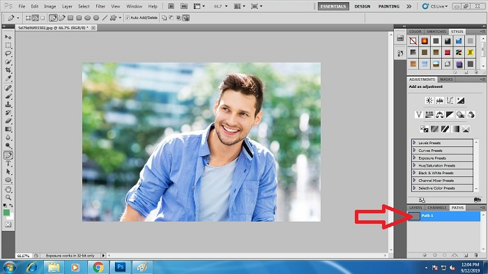 Draw Clipping Path in Photoshop