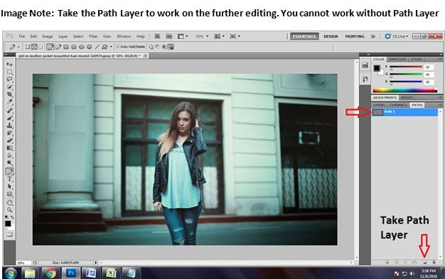 Change Background to White of fashion photo using Path Layers