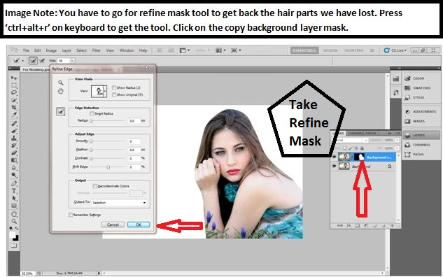 How to mask hair in Photoshop cs54
