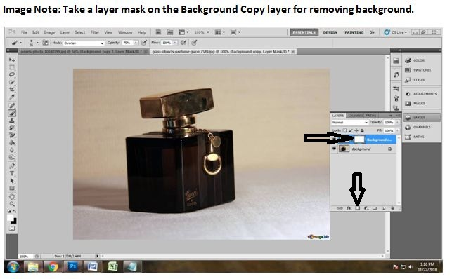 Remove Background using Eraser tool in Photoshop