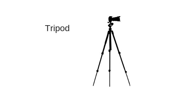 Tripod for wedding images