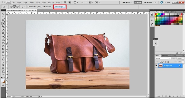 How to cut out Background Using Selection Tool