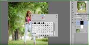 Use brush tool of color correction