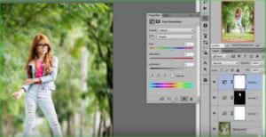 Use brush tool of color correction step 4
