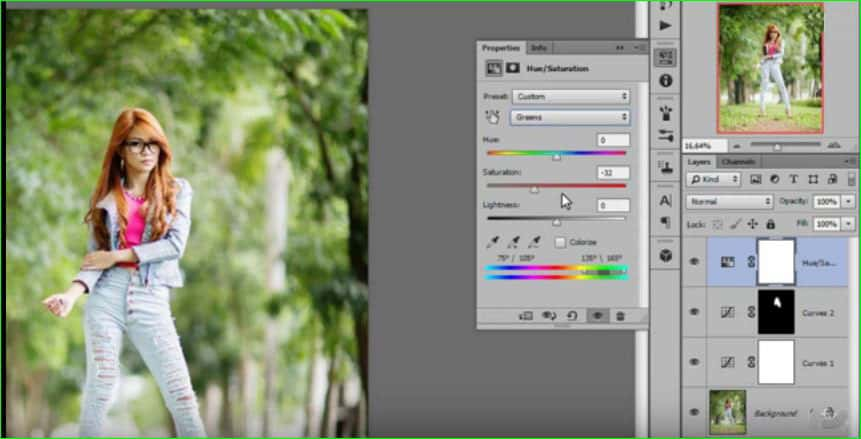 Use brush tool of color correction step 5