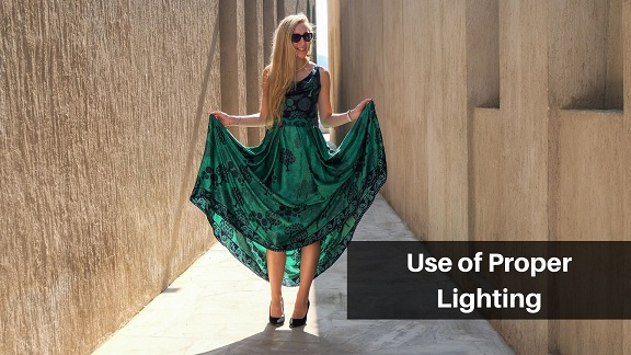 Lighting technique for dress photography