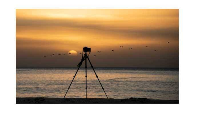 Use tripod for beach photography