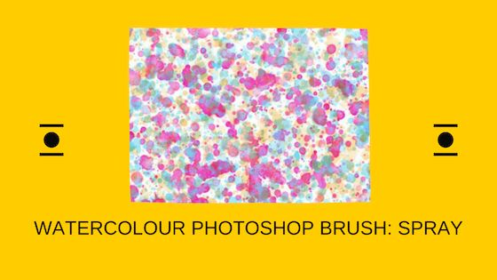 Watercolour Photoshop brush spray