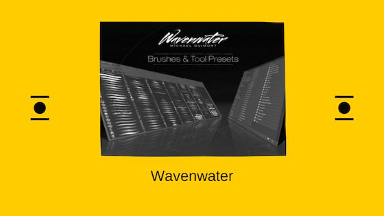 Wavenwater brush for Adobe Photoshop