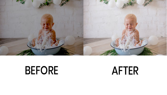 post processing baby photo