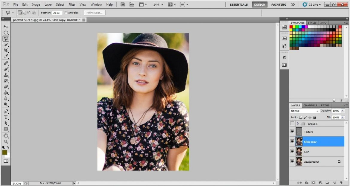 copy layers in Photoshop