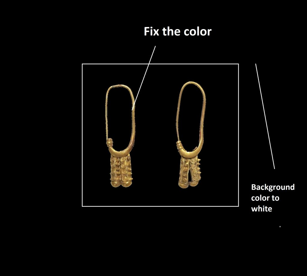 Jewelry retouching ear ring