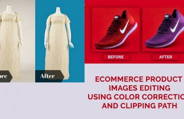 ecommerce product images editing using color correction and clipping path