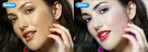 glamour retouching with digital makeup service