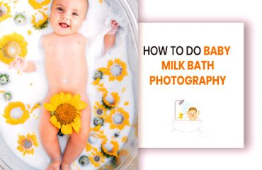 how to do baby milk bath photography