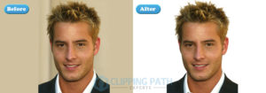human clipping path with flatness service